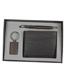 Подарочный набор VIRON: авторучка, брелок, портмоне 15*21*4см