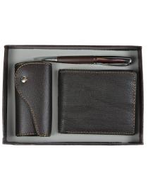 Подарочный набор VIRON: авторучка, ключница, портмоне 15*21*4см