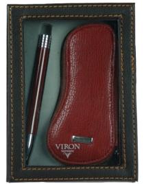 Подарочный набор VIRON: авторучка, ключница 16*12*4см
