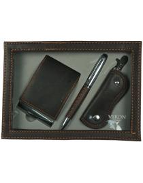 Подарочный набор VIRON: авторучка, ключница, визитница 21*15*4см