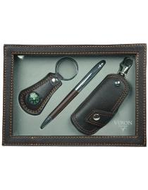 Подарочный набор VIRON: авторучка, ключница, брелок 21*15*4см