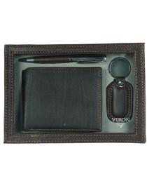 Подарочный набор VIRON: авторучка, брелок, портмоне 21*15*4см