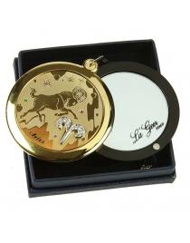 Зеркальце со стразами Овен серия LA GEER d=6см