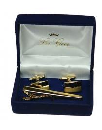 Подарочный набор LA GEER: заколка для галстука, запонки
