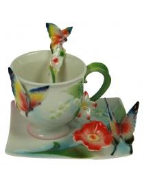 Подарочный чайный набор Бабочка на 1 персону