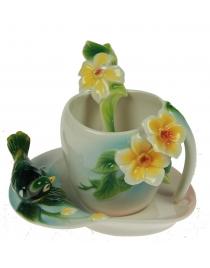 Подарочный чайный набор Птичка на 1 персону