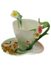 Подарочный чайный набор Тигровый цвет на 1 персону