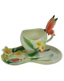 Подарочный чайный набор Бабочки на 1 персону