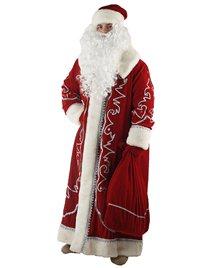 Карнавальный костюм Деда Мороза Боярский бархат с орнаментом Н51-БК