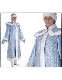 Карнавальный костюм Снегурочка с пелериной сантун голубой Н45-СГ