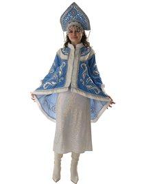 Костюм для Снегурочки с бархатным вышитым пиджаком и платьем. Н150-БВШ