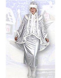 Костюм для Снегурочки с платьем голография Н150-ПБХ